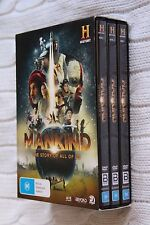 MANKIND - THE STORY OF ALL OF US (3 DVD, BOX SET) REGION-4, LIKE NEW, FREE POST