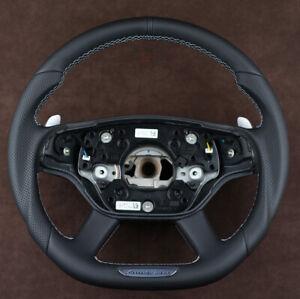 Mercedes custom steering wheel flat bottom S63 S65 AMG W221 W216 CL63 CL65 CL600