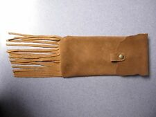 Tobacco Pipe pouch , Southwestern , Mountain Man , Black Powder , Suede Leather