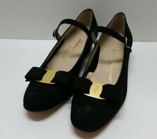 Salvatore Ferragamo Damens's Leder Bow classic classic Bow Heels for sale     95fd5d