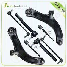 Fits 2007-2011 Nissan Versa 8pc Front Control Arms + Tie Rod Ends Suspension Kit