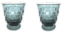 Indiana Whitehall Cubist RIVERA BLUE Tumbler Set Lot of 2 Med 10 oz Glasses