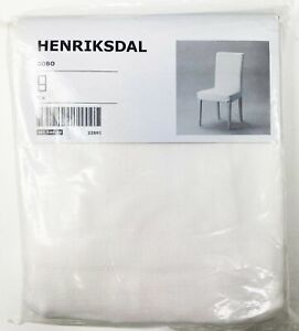 Ikea HENRIKSDAL GOBO White Chair Cover 100% COTTON 50154679 Lot of 4 New