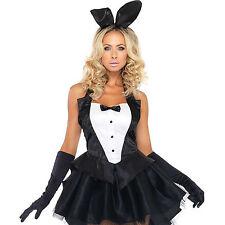 Tenue de Soirée Costume Sexy Bunny Noir Taille M/L - LEG AVENUE