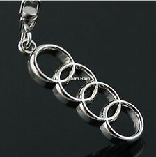 Audi Key Ring NEW - UK Seller - Silver - Car