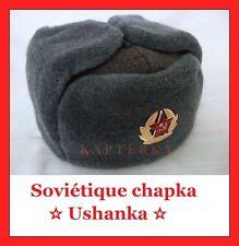 Sz.58 Russe Soldats-chapka URSS Chapeau d'Hiver Armée Soviétique Ushanka Shapka