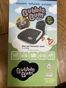 BubbleBum Booster Inflatable Car Booster Seat -Black 4-11 Year. BNIB. New