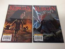 HIGHLANDER ORIGINS THE KURGAN #1C-2 (DYNAMITE/2009/021851) COMPLETE SET LOT OF 2