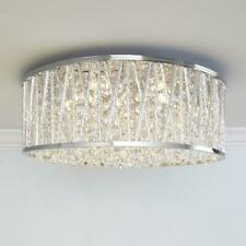 Decor Therapy Collins Laser Cut Aluminum and Chrome and Crystal Integrated LED