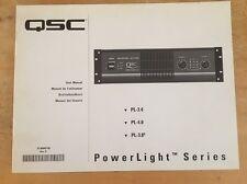 QSC PL-3.4 , PL-4.0 , PL-3.8 POWERLIGHT SERIES OWNERS MANUAL #2