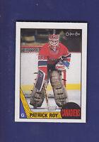 Patrick Roy 2nd Year 1987-88 O-PEE-CHEE OPC Hockey #163 (NM+) Montreal Canadiens