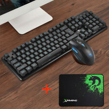 GB M399 2.4GHz Wireless Optical Ergonomic Gaming Keyboard + Mouse+ Mouse Pad Set