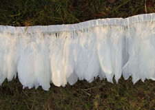 50pcs 6-8 inchs SWAN SHOULDER FEATHERS White For Craft Supplies