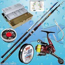 kit completo pesca mare porto lago canna fissa mulinello cassetta ami PL458