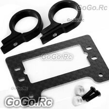 500 Carbon Fiber Metal Servo Tail Boom Mount Tray for T-Rex Helicopter - Black