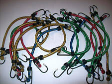 """20 BUNGEE CORD TIE DOWN STRAPS MULTI COLOR 12"""" LONG"""