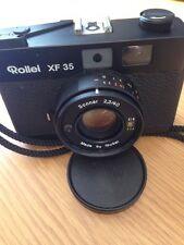 Rollei XF 35 35mm Film Rangefinder Camera W/ Sonnar 40mm F/2.3 Lens Timer