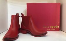 Women's Kate Spade Red Rain Boots Booties Rubber  Size 4 / 5