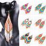 Seed Beaded Earrings Bohemian Multicolour Long Drop Dangle Handmade Jewelry New