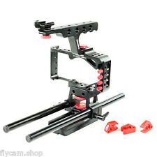 DSLR Camera cage 15mm Rods for Blackmagic Pocket Cinema BMPC Video Film Shoot