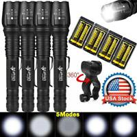 Tactical 900000Lumens 5Modes T6 LED 18650 Flashlight Aluminum Zoom Torch Lot USA