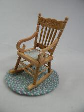 Dollhouse Miniature 1:12 Scale Small Grandma's Rocker Rocking Chair #Z213-B