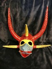 Retro Vtg 1992 Original Vejigante Folk Art Mask Puerto Rico Signed 17""