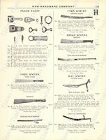 1920s Antique Hardware Ad Pruning Shears Corn/Hay Knives Bush Hooks Snath Pts.