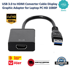 USB 3.0 to HDMI Converter Cable Display Graphic Adapter for Laptop PC HD 1080P