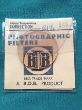 RARE 31mm BDB R1.5 Colour Temperature Correction GLASS PHOTOGRAPHIC FILTER