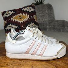 De Colección Adidas Originals Samoa 80s Casual Zapatillas 2004 Blanco/Rosa-US9.5/UK8/42
