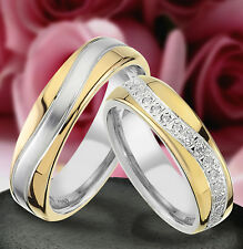 2 Echt Silber 925 Trauringe Eheringe Verlobungsringe , Gravur Gratis , J392-GW