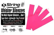 Flo Pink - 2 Pair Bow String Whisker Silencers Archery Bow Compound Recurve
