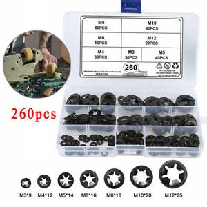 260X M3 M4 M5 M6 M8 M10 M12 Washers Fastener Clip Kit Grab Star Nut Push-On Lock