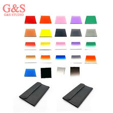 2 x 12 in1 Filter Case Bag + 24 pcs square color Filter Kit for Cokin P Series