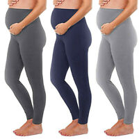 Women Maternity Leggings Seamless Solid Pants Stretch Pregnancy Long Trousers ED