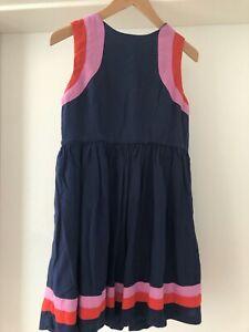 MINI BODEN Kleid blau Baumwolle Größe 134 ungebügelt