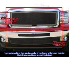 Fits GMC Sierra 1500 New Body/07-2010 Denali Black Mesh Grill Combo 2007-2013