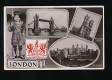 LONDON Beefeater Heraldic Tuck M/view embossed 1909 RP PPC