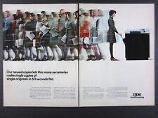 1973 IBM COPIER II copying machine photo vintage print Ad