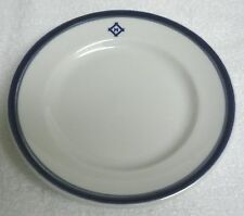 "Mayer China Restaurant Ware 6.25"" Saucer Plate Cobalt Border Logo ""M"" 1983"