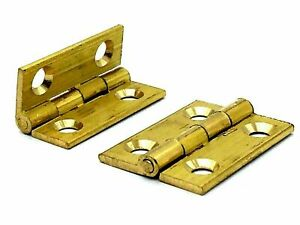 Pair Of Quality Solid Butt Hinges CHOOSE Small-Large Door Cabinet Cupboard