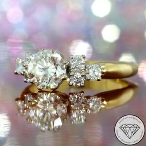 Wert 10.500,- Atemberaubender 1,49 Carat Brillant Ring 750 / 18 Karat Gold xxyy