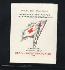 France 1955 Red Cross Booklet Sc B301a Booklet  MNH