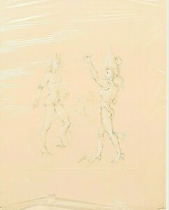 Leonor FINI Etching 4, signed, limited, blindstamp, Title unknown