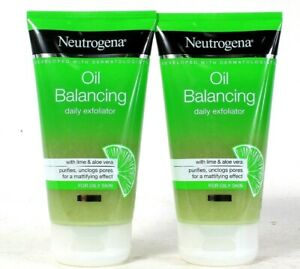 2 Count Neutrogena 5.07 Oz Oil Balancing With Lime & Aloe Vera Daily Exfoliator