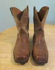 Ariat Rambler Brown Leather Square Toe Cowboy Boots 10002317 Mens Size 9EE
