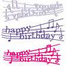 Happy Birthday Metal Cutting Dies Stencil For DIY Scrapbooking Cards Album Decor