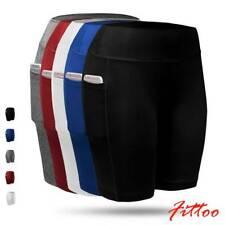Women High Waist Stretch Biker Bike Shorts Fitness Leggings Hot Pants w/ Pockets