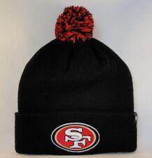 San Francisco 49ers NFL Cuffed Knit Pom Hat 47 Brand Black